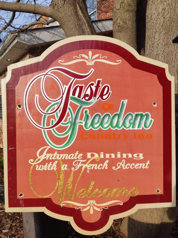 Restaurant Sign for Taste of Freedom restaurant